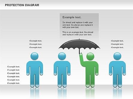 Protection Diagram, Slide 4, 00978, Business Models — PoweredTemplate.com