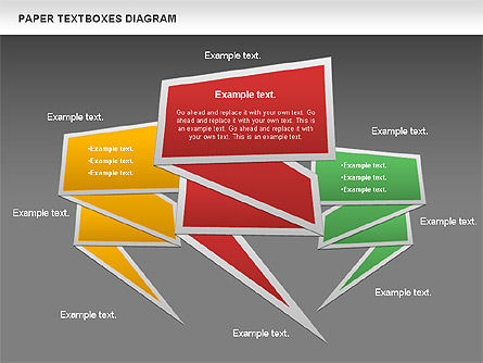 Paper Text Boxes, Slide 12, 00980, Text Boxes — PoweredTemplate.com