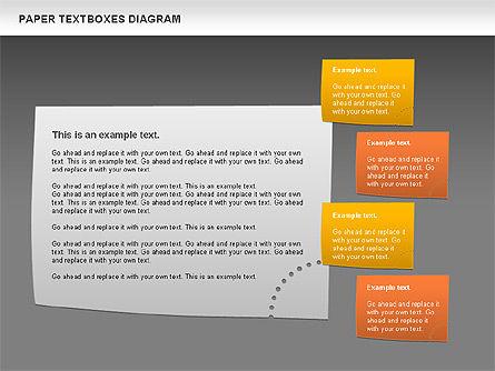 Paper Text Boxes, Slide 13, 00980, Text Boxes — PoweredTemplate.com