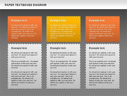 Paper Text Boxes, Slide 14, 00980, Text Boxes — PoweredTemplate.com