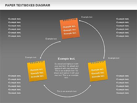 Paper Text Boxes, Slide 15, 00980, Text Boxes — PoweredTemplate.com