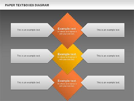 Paper Text Boxes, Slide 16, 00980, Text Boxes — PoweredTemplate.com