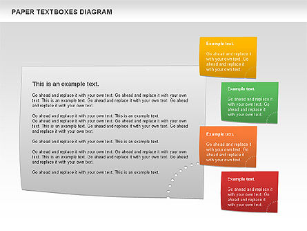 Paper Text Boxes, Slide 2, 00980, Text Boxes — PoweredTemplate.com