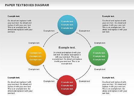 Paper Text Boxes, Slide 6, 00980, Text Boxes — PoweredTemplate.com