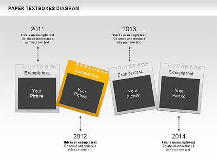 Paper Text Boxes, Slide 8, 00980, Text Boxes — PoweredTemplate.com