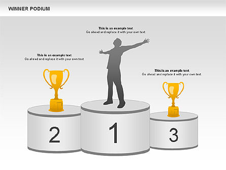 winner podium diagram for powerpoint presentations, download now, Presentation templates