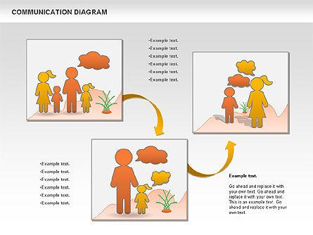 Family Communication Diagram, Slide 10, 00982, Process Diagrams — PoweredTemplate.com
