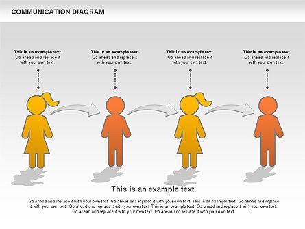 Family Communication Diagram, Slide 11, 00982, Process Diagrams — PoweredTemplate.com