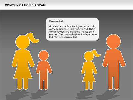 Family Communication Diagram, Slide 12, 00982, Process Diagrams — PoweredTemplate.com