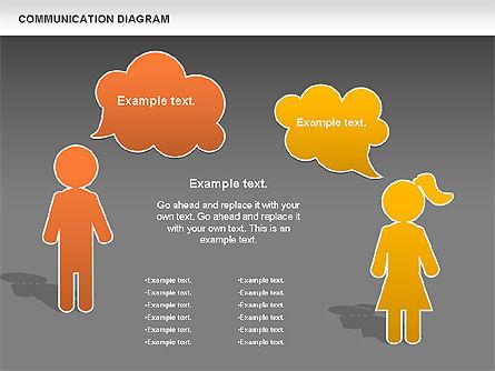 Family Communication Diagram, Slide 14, 00982, Process Diagrams — PoweredTemplate.com