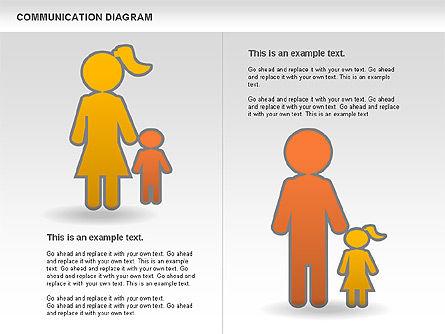 Family Communication Diagram, Slide 6, 00982, Process Diagrams — PoweredTemplate.com