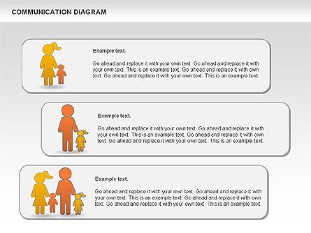 Family Communication Diagram, Slide 8, 00982, Process Diagrams — PoweredTemplate.com