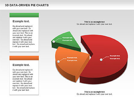 3D Pie Charts Collection (Data Driven) Slide 2