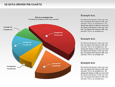 3D Pie Charts Collection (Data Driven) Slide 3