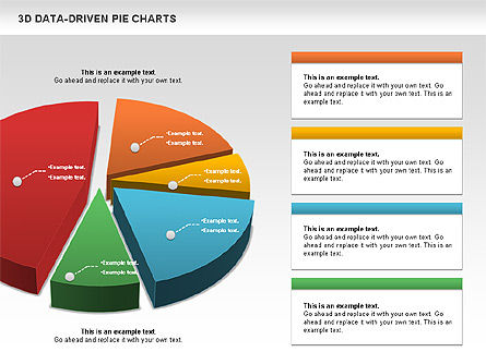 3D Pie Charts Collection (Data Driven) Slide 4