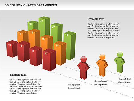 3D Column Data Driven Charts, 00987, Business Models — PoweredTemplate.com