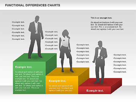 Functional Differences Chart, Slide 2, 00989, Stage Diagrams — PoweredTemplate.com