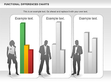 Functional Differences Chart, Slide 3, 00989, Stage Diagrams — PoweredTemplate.com