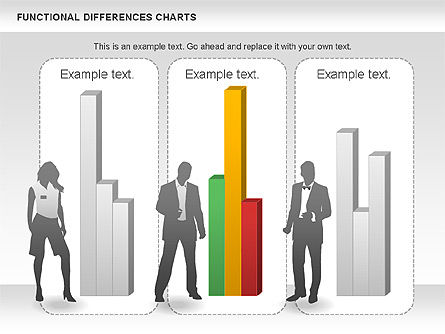 Functional Differences Chart, Slide 4, 00989, Stage Diagrams — PoweredTemplate.com