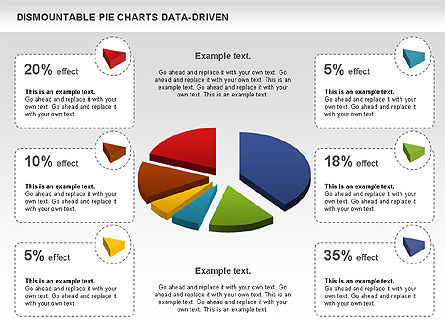 Pie Charts: Dismountable Pie Chart (Data Driven) #00990