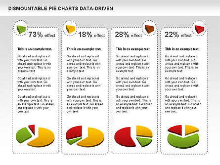 Dismountable Pie Chart (Data Driven), Slide 10, 00990, Pie Charts — PoweredTemplate.com