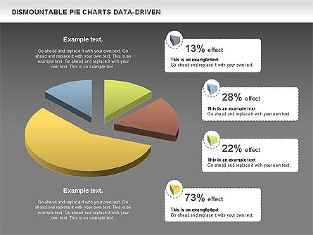 Dismountable Pie Chart (Data Driven), Slide 12, 00990, Pie Charts — PoweredTemplate.com