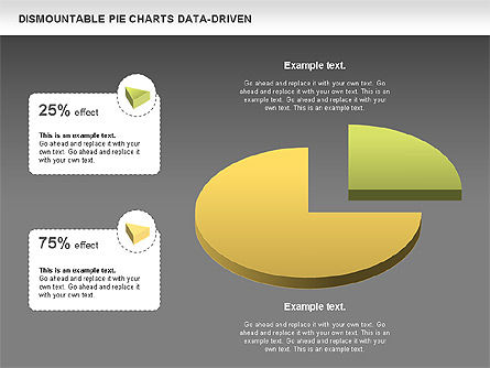 Dismountable Pie Chart (Data Driven), Slide 13, 00990, Pie Charts — PoweredTemplate.com