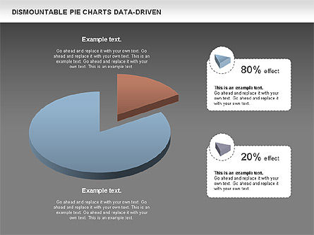 Dismountable Pie Chart (Data Driven), Slide 14, 00990, Pie Charts — PoweredTemplate.com
