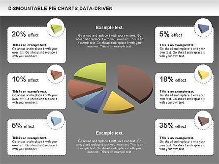 Dismountable Pie Chart (Data Driven), Slide 15, 00990, Pie Charts — PoweredTemplate.com