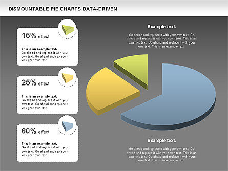 Dismountable Pie Chart (Data Driven), Slide 16, 00990, Pie Charts — PoweredTemplate.com