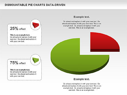 Dismountable Pie Chart (Data Driven), Slide 2, 00990, Pie Charts — PoweredTemplate.com