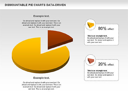 Dismountable Pie Chart (Data Driven), Slide 4, 00990, Pie Charts — PoweredTemplate.com