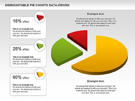 Dismountable Pie Chart (Data Driven), Slide 5, 00990, Pie Charts — PoweredTemplate.com