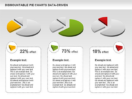 Dismountable Pie Chart (Data Driven), Slide 6, 00990, Pie Charts — PoweredTemplate.com