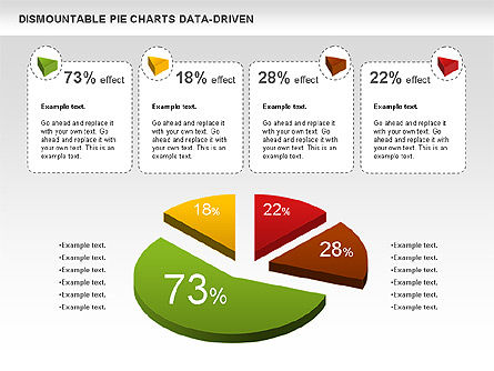 Dismountable Pie Chart (Data Driven), Slide 8, 00990, Pie Charts — PoweredTemplate.com