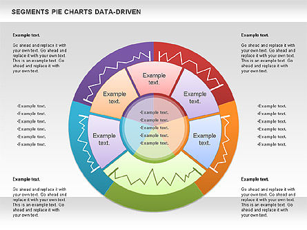 Data Driven Segments Pie Chart, 00991, Pie Charts — PoweredTemplate.com