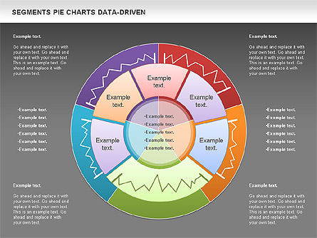 Data Driven Segments Pie Chart For Powerpoint