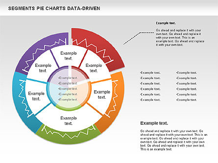 Data Driven Segments Pie Chart, Slide 2, 00991, Pie Charts — PoweredTemplate.com