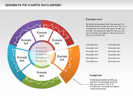 Data Driven Segments Pie Chart, Slide 3, 00991, Pie Charts — PoweredTemplate.com