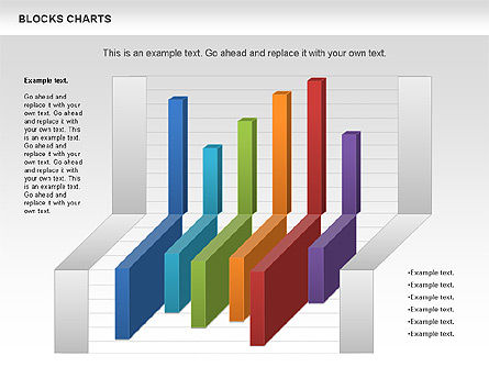 Blocks Histogram Chart, Slide 3, 00992, Business Models — PoweredTemplate.com