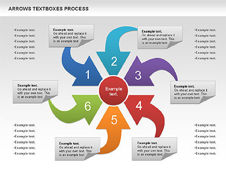 Arrows Textboxes Process Diagram, 00993, Process Diagrams — PoweredTemplate.com