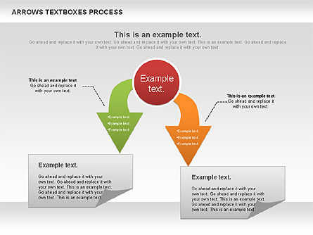 Arrows Textboxes Process Diagram, Slide 10, 00993, Process Diagrams — PoweredTemplate.com