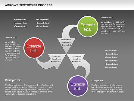 Arrows Textboxes Process Diagram, Slide 14, 00993, Process Diagrams — PoweredTemplate.com