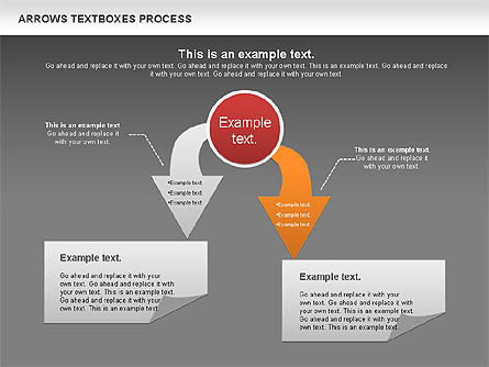 Arrows Textboxes Process Diagram, Slide 15, 00993, Process Diagrams — PoweredTemplate.com