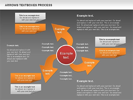 Arrows Textboxes Process Diagram, Slide 16, 00993, Process Diagrams — PoweredTemplate.com