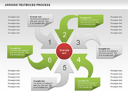 Arrows Textboxes Process Diagram, Slide 2, 00993, Process Diagrams — PoweredTemplate.com