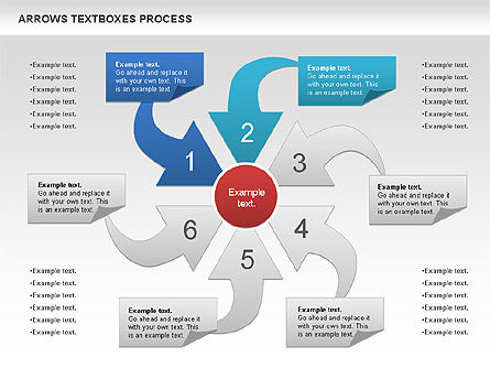 Arrows Textboxes Process Diagram, Slide 4, 00993, Process Diagrams — PoweredTemplate.com