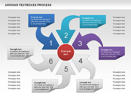 Arrows Textboxes Process Diagram, Slide 5, 00993, Process Diagrams — PoweredTemplate.com