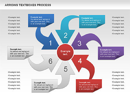 Arrows Textboxes Process Diagram, Slide 6, 00993, Process Diagrams — PoweredTemplate.com