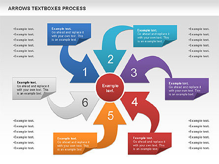 Arrows Textboxes Process Diagram, Slide 7, 00993, Process Diagrams — PoweredTemplate.com